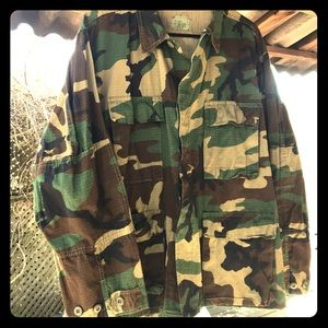 🍃Camo Shirt Jacket, Large EUC🍃